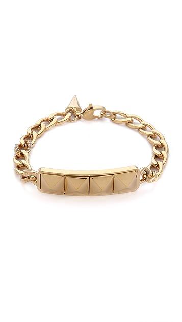 Rebecca Minkoff Studded ID Plate Bracelet