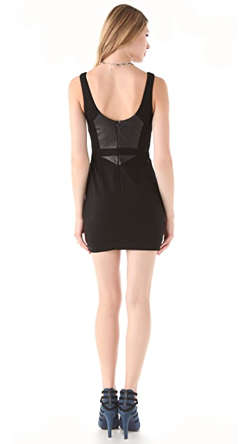Rebecca Minkoff Stella Leather Paneled Dress