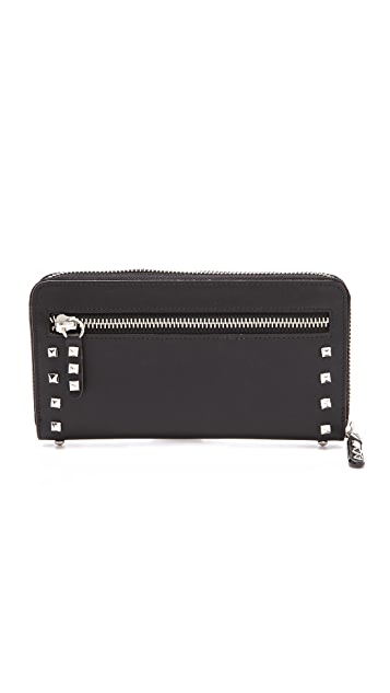 Rebecca Minkoff Luma Large Zip Wallet with Studs