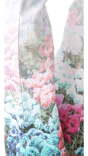 Rebecca Minkoff Digital Floral Skinny Boot Jeans