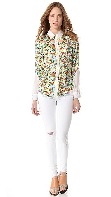 Rebecca Minkoff Acid Bloom Cowboy Shirt