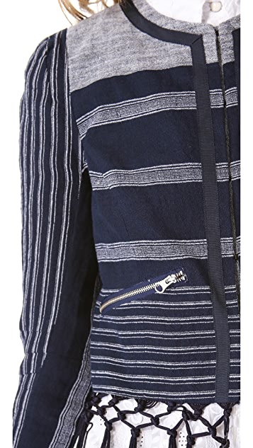 Rebecca Minkoff Emerson Fringe Linen Jacket