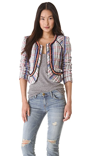 Rebecca Minkoff Jolie Acid Tweed Jacket