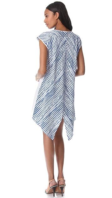 Rebecca Minkoff Brush Stripe Baseball Dress