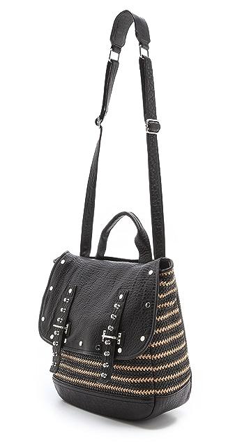 Rebecca Minkoff Woven Straw Logan Bag
