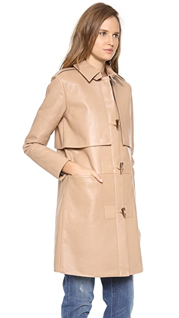 Rebecca Minkoff Eclipse Bonded Leather Coat