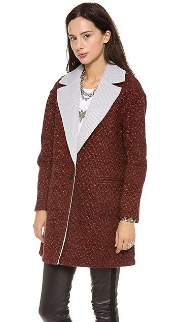 Rebecca Minkoff Shuttle Tweed Coat