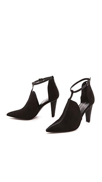 Rebecca Minkoff Abigale Suede T Strap Booties