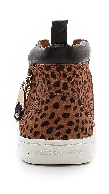 Rebecca Minkoff Deacon Haircalf Zip Sneakers