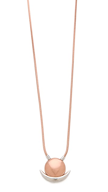 Rebecca Minkoff Long Pave Moon Pendant Necklace