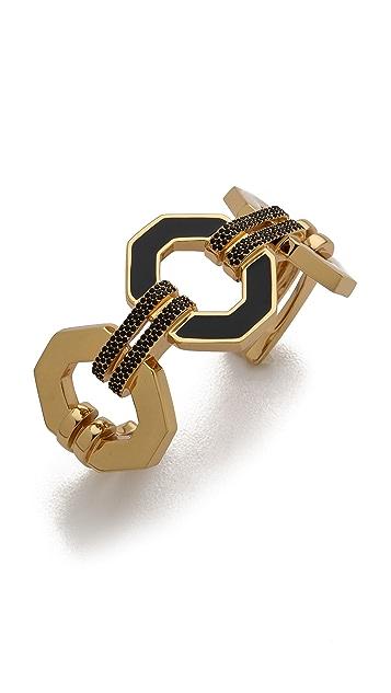 Rebecca Minkoff Pave Link Cuff Bracelet