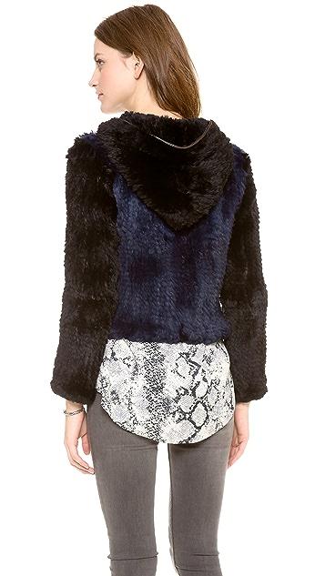 Rebecca Minkoff Rabbit Fur Hoodie