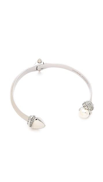 Rebecca Minkoff Curbs & Stud Hinge Bangle Bracelet