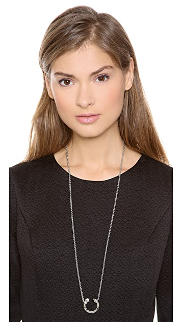 Rebecca Minkoff Curbs Cresent Necklace