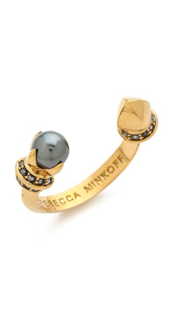 Rebecca Minkoff Curbs Pearly Stud Ring