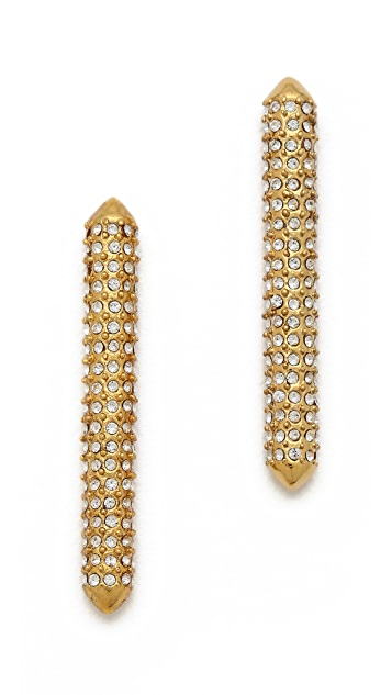 Rebecca Minkoff Long Bar Stud Earrings