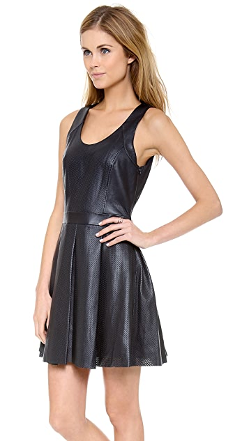 Rebecca Minkoff Liv Perforated Leather Dress