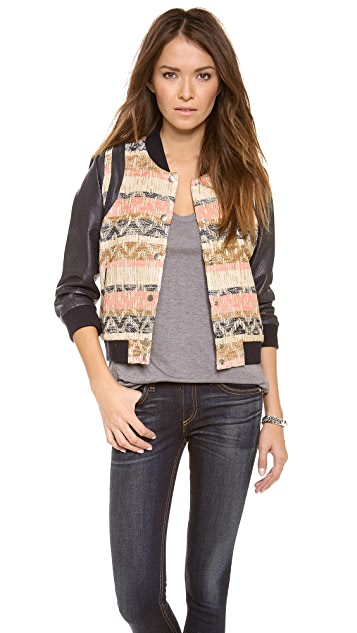 Rebecca Minkoff Smith Tweed Bomber Jacket