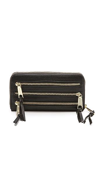 Rebecca Minkoff Triple Zip Wallet