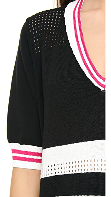 Rebecca Minkoff Striped Mesh Dress