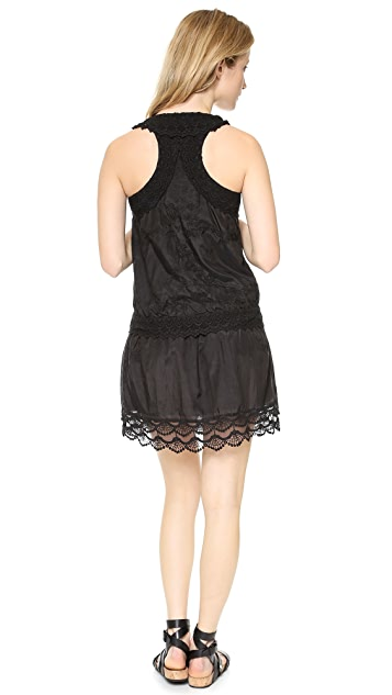 Rebecca Minkoff Jenkin Embroidered Racer Back Dress