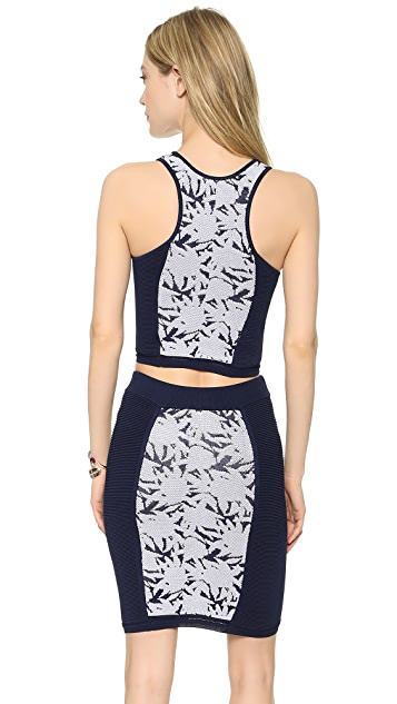 Rebecca Minkoff Okina Racer Back Knit Top