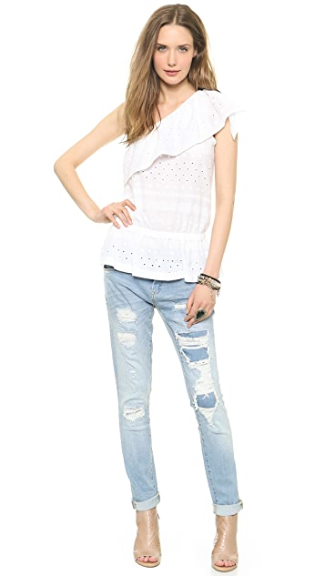 Rebecca Minkoff Wave One Shoulder Top