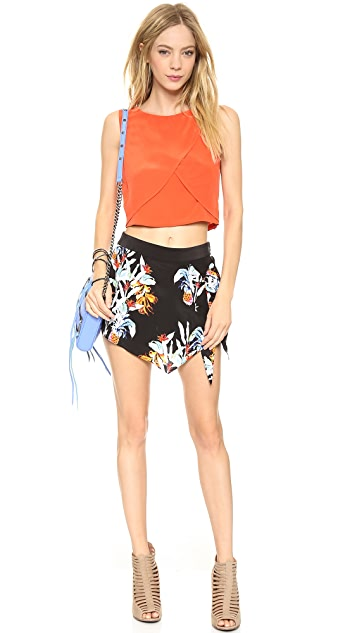 Rebecca Minkoff Wrap Pineapple Shorts