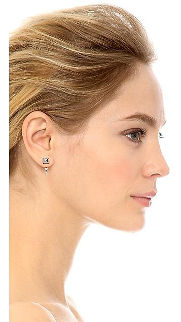 Rebecca Minkoff Front Back Hoop Earrings
