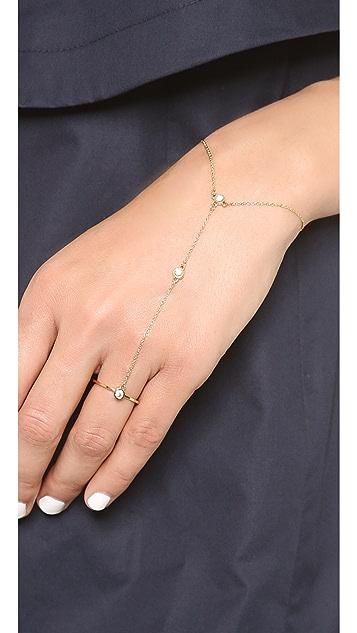 Rebecca Minkoff Crystal Stone Hand Chain