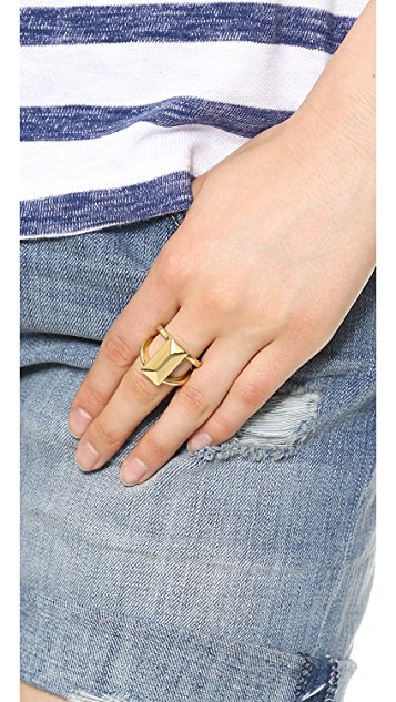 Rebecca Minkoff Rectangle Metal Stud Ring