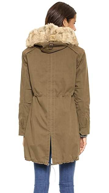 Rebecca Minkoff Morris Parka with Fur Collar