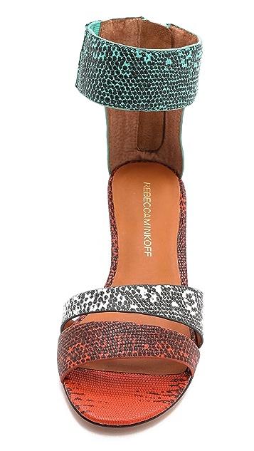 Rebecca Minkoff Lore Embossed Sandals