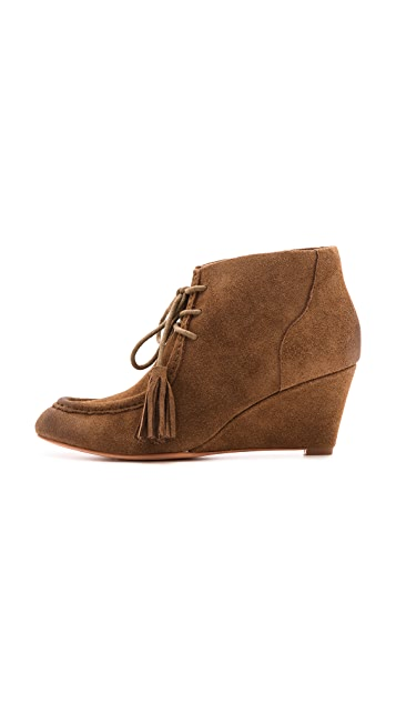 Rebecca Minkoff Mia Lace Up Wedge Booties