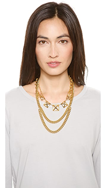 Rebecca Minkoff Pyramid Cutout Statement Necklace