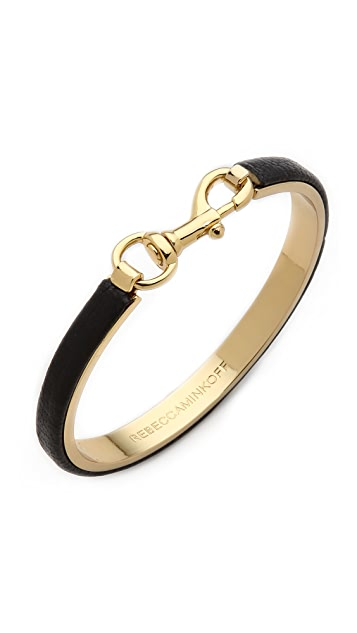 Rebecca Minkoff Dog Clip Bangle Bracelet
