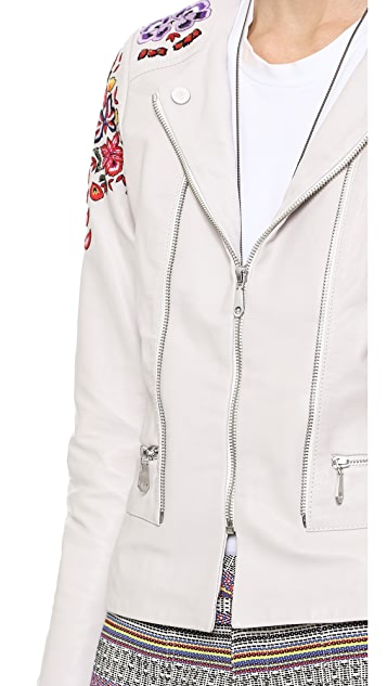 Rebecca Minkoff ABC Leather Bomber