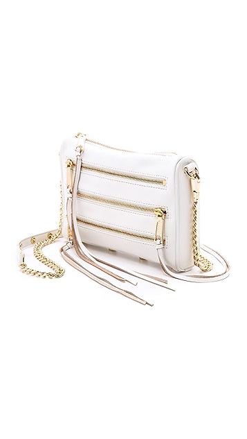 Rebecca Minkoff Миниатюрная сумка через плечо с пятью молниями