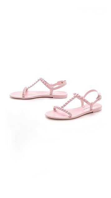 Rebecca Minkoff Sava T Strap Jelly Sandals