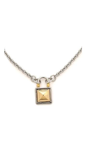 Rebecca Minkoff Short Locked Charm Necklace