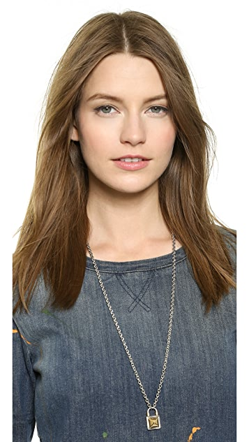 Rebecca Minkoff Long Locked Charm Necklace