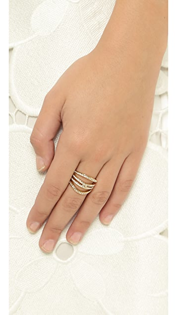 Rebecca Minkoff Safari Haze Four Band Ring