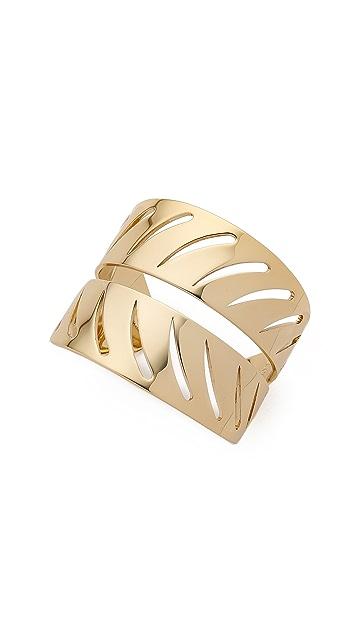 Rebecca Minkoff Safari Haze Leaf Cuff Bracelet