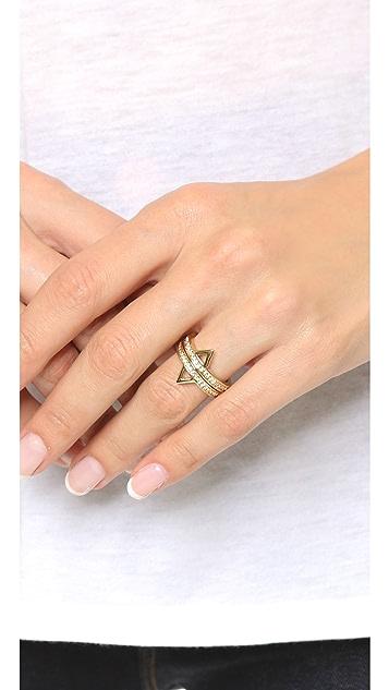 Rebecca Minkoff Stack Triangle Ring Set