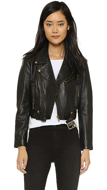 Rebecca Minkoff Harpur Leather Moto Jacket