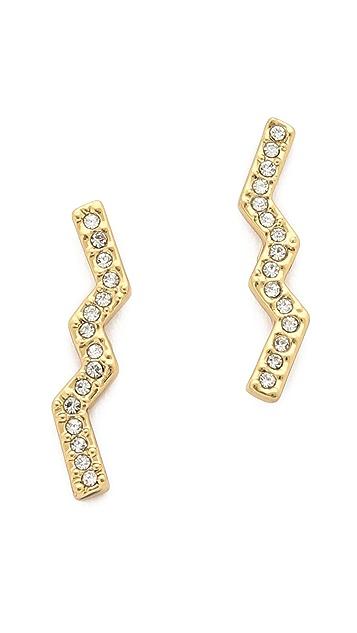 Rebecca Minkoff Geometric Button Earrings