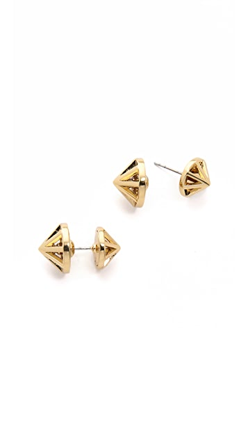 Rebecca Minkoff Front to Back Cone Earrings