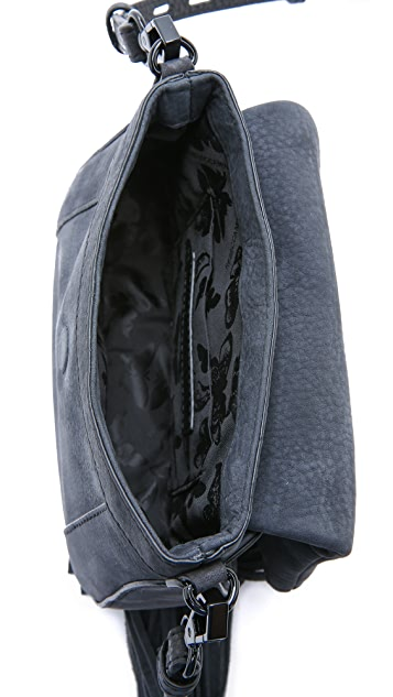 Rebecca Minkoff Миниатюрная седельная сумка Crosby с бахромой