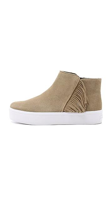 Rebecca Minkoff Stella Suede Fringe Sneakers