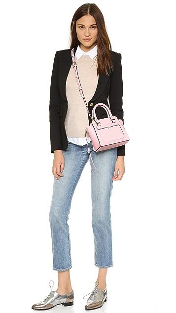Rebecca Minkoff Миниатюрная объемная сумка с короткими ручками Avery